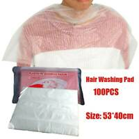 100pcs Disposable Hair Cutting Capes Hairdressing Home Barber Apron Dyeing US