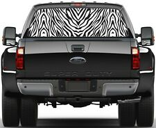 Zebra Rear Window Graphic Decal Truck SUV Vans version 6