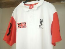 Warrior Liverpool Polo shirt Size XL GB Flag number 8 white and red 100% cotton