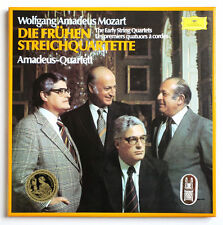 AMADEUS QUARTET Mozart early string quartets germany DGG 2740165 STEREO 4LP Box