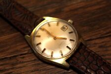 Vintage Mens Omega Geneve Watch 565 Automatic 24 J Swiss 20 Microns Gold Plated