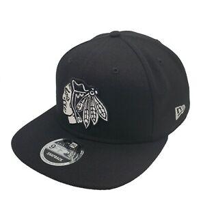 Chicago Blackhawks New Era 9Fifty Black Original Fit Snapback Hat Cap Hat NHL