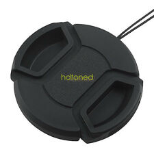 52mm 52 Front Lens Cap Hood Cover Snap-on with cord for Nikon Canon Pentax Sony