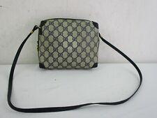 d66e7018a012 Vintage GUCCI Blue GG Monogram Small Cross Body Shoulder Handbag