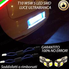 COPPIA LUCI TARGA A 5 LED GRANDE PUNTO T10 W5W CANBUS NUOVO MODELLO