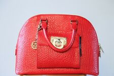 DKNY Red Leather Top Handle Handbag | Office | Structured | Statement | Fall Bag