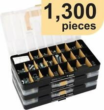 1300 Pieces Sae Standard Size Nut And Bolt Screw Assortment Hardware Kit Set