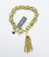 J.CREW Gold Rhinestone Tassel Bracelet New with $75 Tags #21251