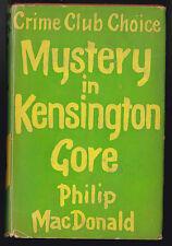 Philip MacDonald - Mystery in Kensington Gore - Collins - 1960, Original DW