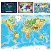 Vlies Fototapete Kinderzimmer Weltkarte Tiere Landkarte Kontinente Junge 12