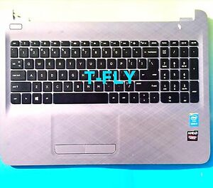 NEW 813975-001 HP 15AF 15-AF130NR Top Cover Palmrest Upper Case Keyboard Silver