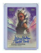 Star Wars Women card Ashley Eckstein as Ahsoka Tano signed autograph auto 9/25