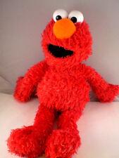 """Sesame Street Red Elmo 2005 pellet filled bottom soft hugable 14"""" Clean GUND"""