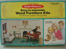 Dollhouse Miniatures Heritage Series Music Room Kit (Couch and Music Stand Only)