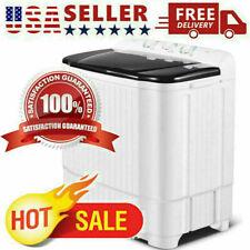 26LBS Compact Portable Washing Machine Twin Tub w/ Drain Pump Spiner Dryer US