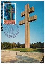 CARTE MAXIMUM FDC 1977 TIMBRE N° 1941 GENERAL DE GAULLE MEMORIAL 5° ANNIVERSAIRE