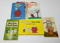Vintage 1960s Lot of 5 Charles H. Schulz Snoopy Peanuts Books Paperback