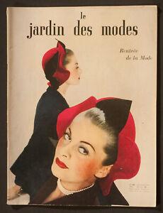 'LE JARDIN DES MODES' FRENCH VINTAGE MAGAZINE AUTUMN ISSUE SEPTEMBER 1947