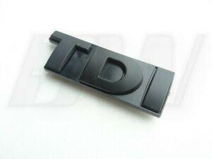MATT BLACK TDI BADGE for FRONT GRILLE. SUITABLE FOR VARIOUS BRANDS.