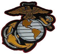 USMC LARGE MARINE CORPS EAGLE GLOBE ANCHOR EGA CUT OUT BACK PATCH SEMPER FIDELIS