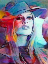 Motiv Brigitte Bardot Aquarelle PopArt/Malerei/StreetArt/Leinwand/Kunstdruck