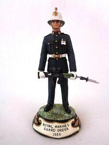Charles Stadden Pewter Figure Studio Painted Royal Marines Guard Order 1986 Rare