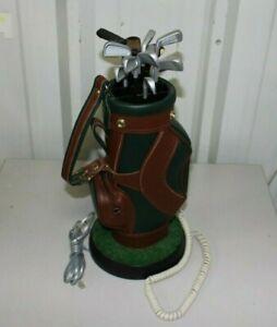 "Vintage Golf Bag Clubs Landline Telephone Corded House Phone - 16"""
