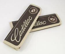 Car Seat Belt Shoulder Pads Covers Cadillac Accessory Embroidery Beige Logo Old