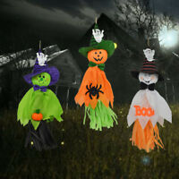 Lovely Pumpkin Ghost Pendant Hanging Halloween Indoor/Outdoor Decoration Gift