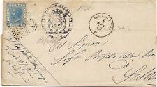 P7150   Salerno, Laurino, annullo numerale a punti 1875