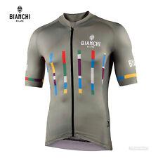 NEW 2021 Bianchi Milano FANACO Short Sleeve Cycling Jersey : OLIVE GREEN