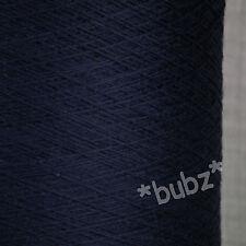ZEGNA BARUFFA CASHWOOL PURE MERINO WOOL 2/30s  NAVY BLUE LACEWEIGHT COBWEB YARN
