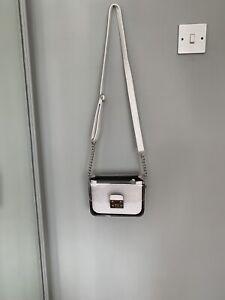 Womens White Faux Leather  Mini Handbag