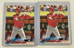 2018 Topps Update #US285 SHOHEI OHTANI RC * Lot of 2