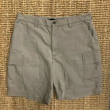 VINTAGE NAUTICA MEN'S EXPLORER LOOSE FIT CHINO CARGO SHORTS BEIGE SIZE W36