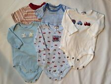 Carters Faded Glory Boys Body Suit Lot Size 3 Months 5 piece VGUC