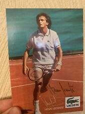 More details for henri leconte -  french tennis star - hand signed 6 x 4 postcard with coa!
