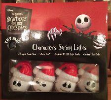 NEW NIGHTMARE BEFORE CHRISTMAS Santa Jack Skellington Musical Lights LED