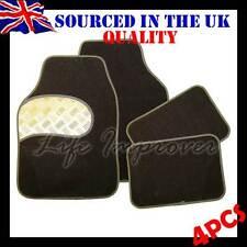 4 Pcs Universal Non Slip Silver Alloy Style Interior Floor Carpet Car Mat Set