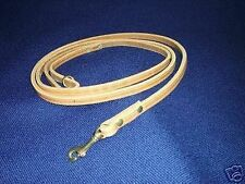 8FT X 1/2IN LEATHER DOG TRAINING LEASH POLICE K9 SCHUTZHUND YOU PICK THE COLOR