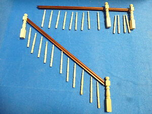 Dolls House DIY   Banister Set.   Mahogany Handrail DIY501dhd