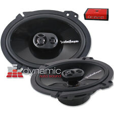 "Rockford Fosgate P1683 Car Audio Speakers 6""x8"" Coaxial 3-Way Speaker 130W New"