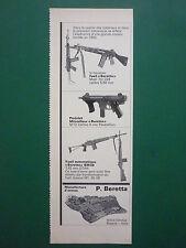 70'S PUB BERETTA BRESCIA FUSIL PISTOLET MITRAILLEUR GUN ORIGINAL FRENCH AD