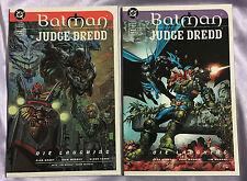 Batman Judge Dredd Die Laughing #1 #2 DC Comics 1999 Full Series~SET~NM