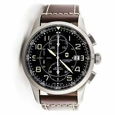Victorinox Swiss Army Airboss Chronograph Black Dial Analog Watch 241597