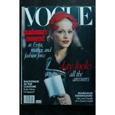 VOGUE OCTOBER 1996 COVER MADONNA MADONNA'S MOMENT AS EVITA, MOTHER, AND FASHION