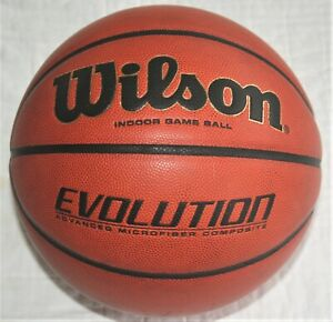 Used Wilson Evolution 29.5 Inch Indoor Game Basketball mod# W0516, NFHS approved