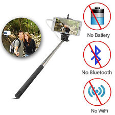 Plug & Play Selfie Stick for iPhone Smartphone Samsung Android Phone Camer *US*