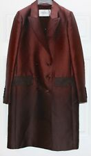 "MAX MARA DOUBLE BREASTED ""SHARKSKIN"" COAT...SZ 10...NWT"