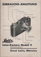PDF Leitz Leica-Kamera Modell II m. Kassette Modell D Bedienungsanleitung Manual